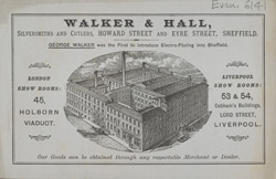 Advert for Walker & Hall, silversmiths & cutlers